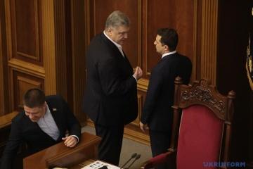 Zełenski w Radzie rozmawiał z Poroszenko i Honczarenko