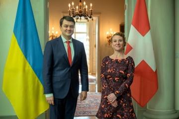 Razumkov discuss Donbas and Crimea during visit to Switzerland
