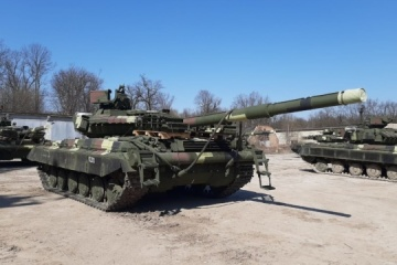 Ukrainian military receive upgraded T-64 tanks