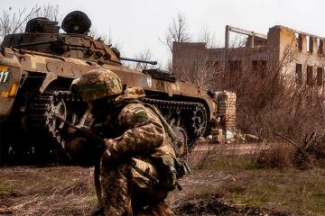 Ukrainian troops come under fire near Opytne, Krasnohorivka and Kamyanka