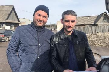 露5年拘束のクリミア・タタール人解放 2014年の親ウクライナ集会参加者