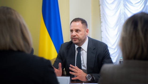 Yermak affirms that Ukraine and Russia remain parties to conflict in TCG