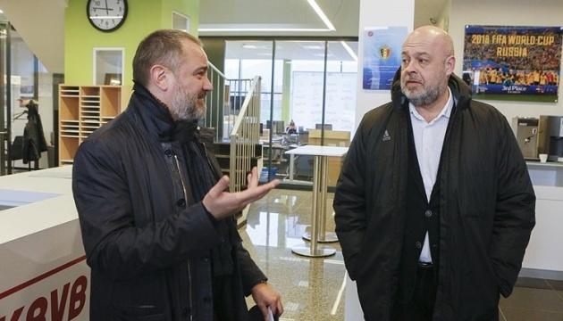 Павелко посетил базы футбольных сборных Нидерландов и Бельгии