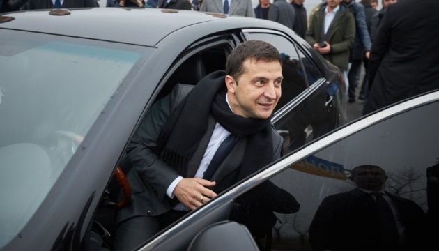 Volodymyr Zelensky est arrivé à Novy Sanzhary