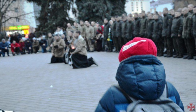 У Луцьку вшанували загиблих у лютому військових