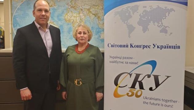 Президент СКУ провів зустріч із очільницею Світової федерації українських лемківських організацій