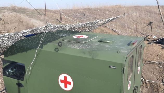 【東部情勢】ウクライナ、OSCEでドンバス地方にて衛生班車両が受けた攻撃の写真を提示