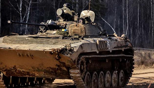 Okupanci wczoraj ostrzelali z moździerza pozycje Ukraińskich Sił Zbrojnych w pobliżu miejscowości Ługańskie