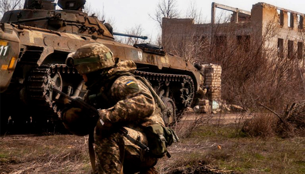 Ukrainian troops come under fire near Opytne, Krasnohorivka and Kamyanka