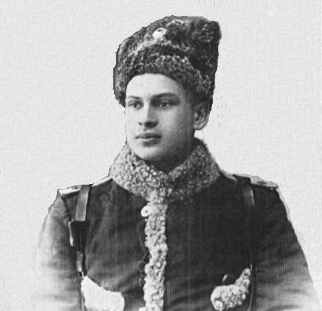 Доброволець Юрій Вороний, 1915 р.