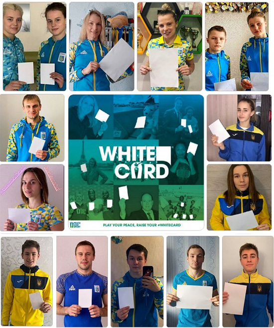 Збірна України зі стрибків у воду приєдналася до акції МОК і ООН #WhiteCard / Фото: НОК України