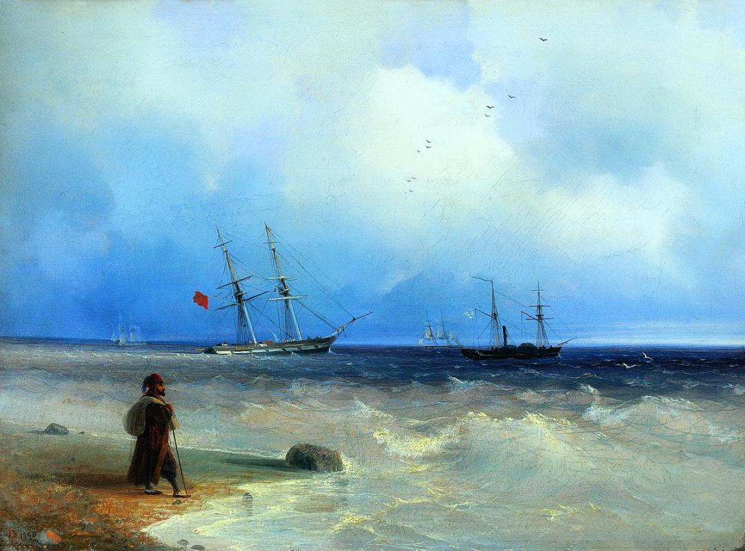 Етюд повітря над морем, 1835 р.