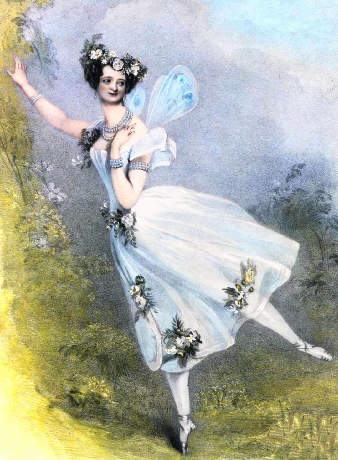 Альфред Едвард Шалон, Марія Тальоні у балеті Зефір і Флора, 1831 р.