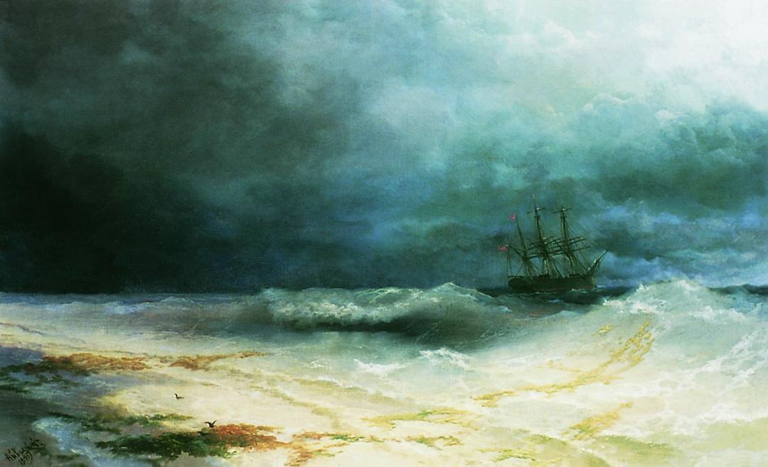 Буря біля берегів Абхазії 1