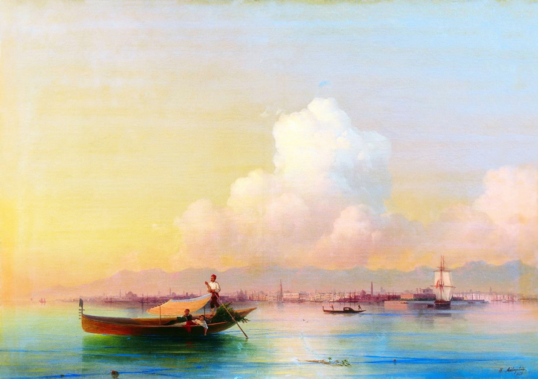 Вид Венеції з боку Лідо 1855 р. 1