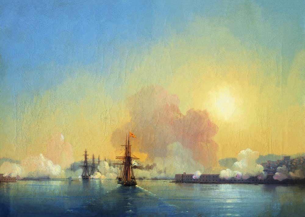 Вхід в Севастопольську бухту, 1852 р.