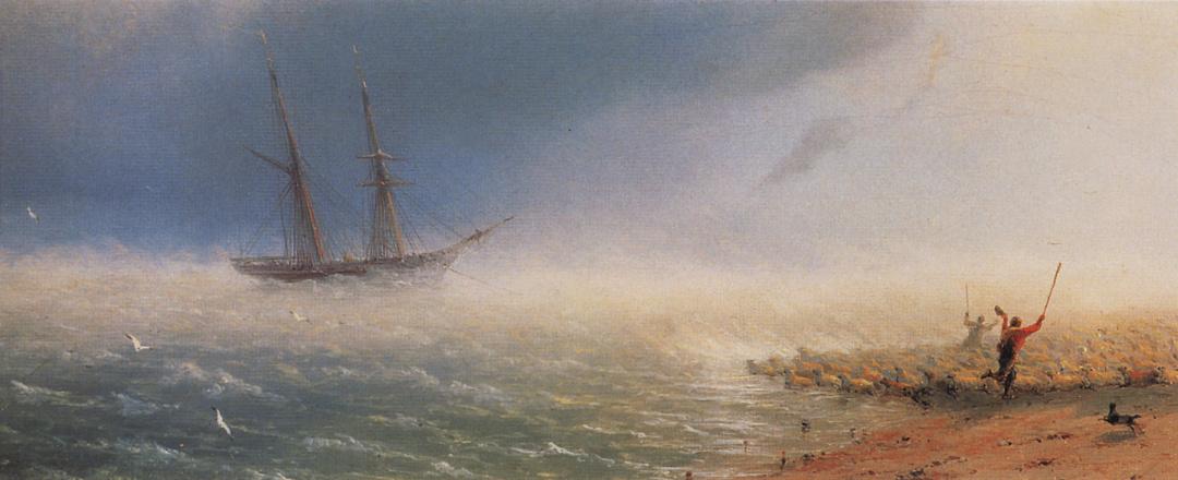 Вівці, яких буря заганяє в море, 1855 р. 1