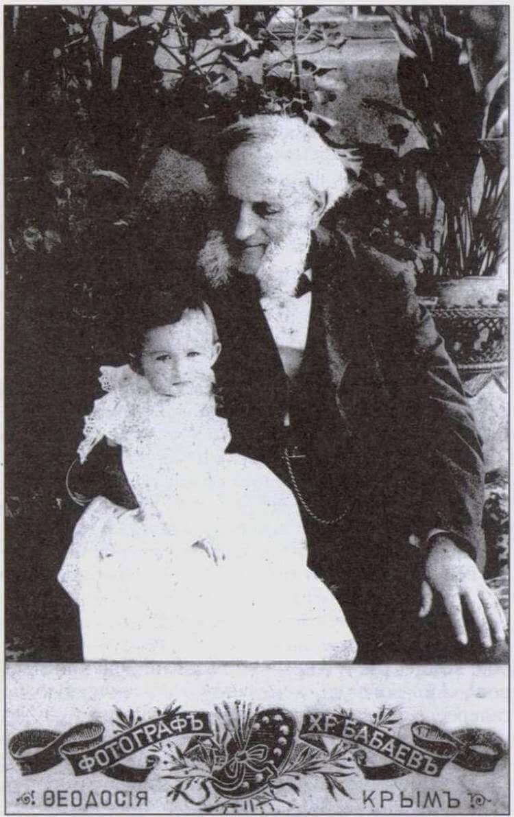 Іван Айвазовський із онукою, Феодосія, 1897 р. 1