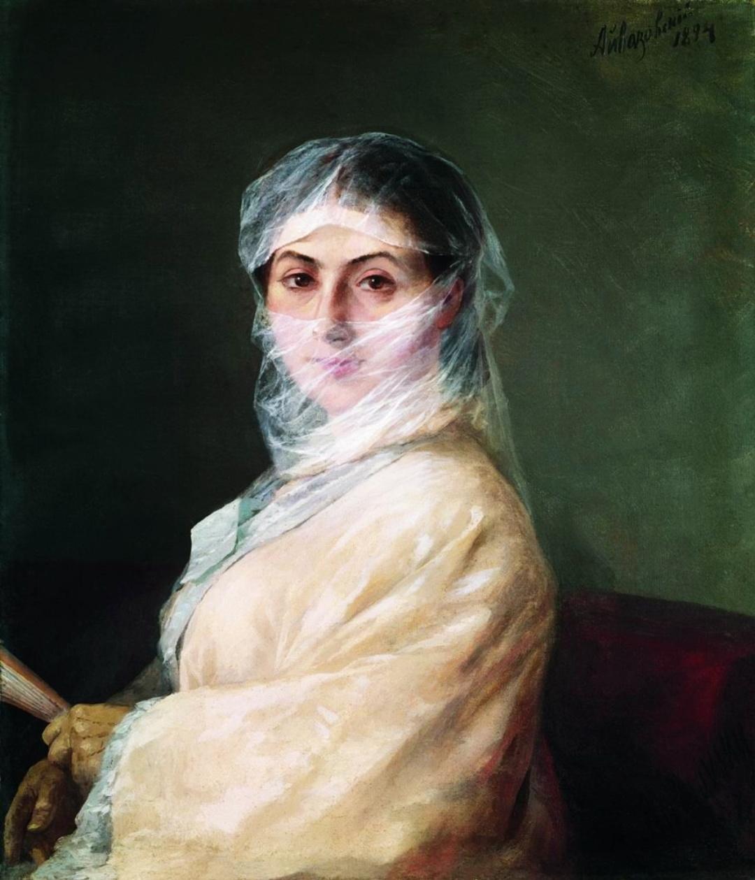 портрет другої дружини художника Анни Бурназян. 1882 р. 1