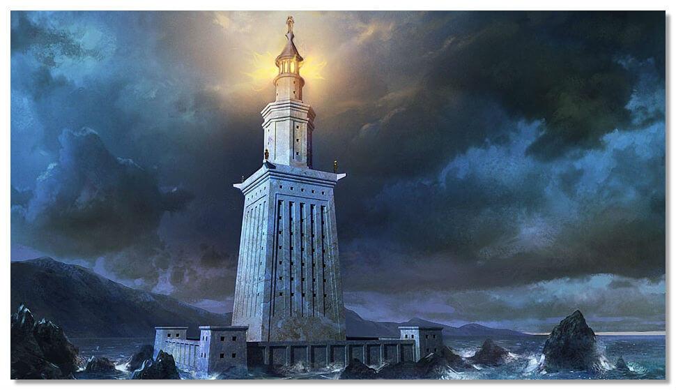 Александрійський маяк, реконструкція