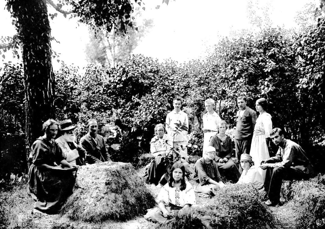 Микола Кащенко з працівниками Київського аАкліматизаційного саду, вересень 1926 р.