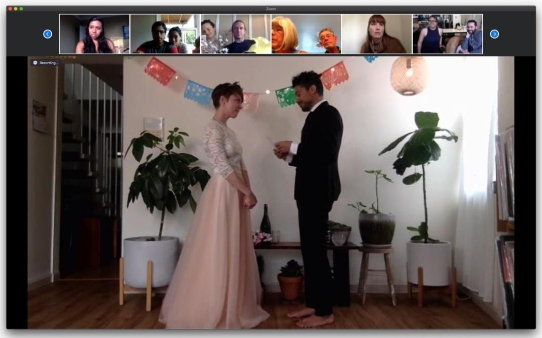 Джефф і Крісті запросили друзів на zoom-весілля