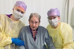 Від Covid-19 вилікувалася ще одна 101-річна пацієнтка