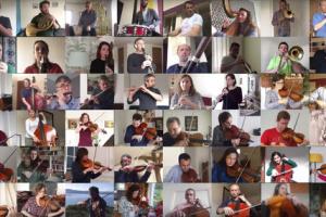 """Оркестр Харкова """"з дому"""" записав кліп на підтримку людей у самоізоляції"""