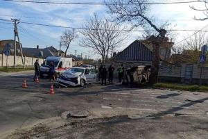 У Херсоні поліцейське авто потрапило у ДТП , п'ятеро постраждалих
