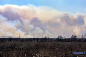 Sperrzone von Tschornobyl: Brand noch nicht gelöscht, keine Erhöhung von Radioaktivität