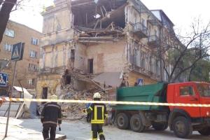 В Одессе обрушилась стена трехэтажного дома