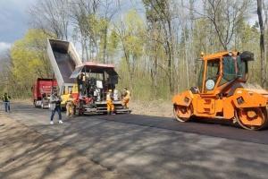 На Чернігівщині ремонтують дорогу до Ічнянського національного парку