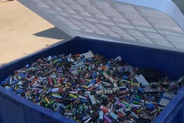 Kyiv sends almost 4.5 mln batteries to Romania for recycling