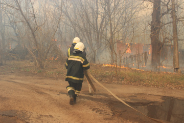 チョルノービリ立入制限区域の火災 発生から10日、消火続く