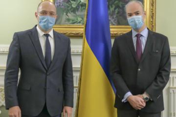 El primer ministro de Ucrania y el Embajador de Francia acuerdan cooperar en proyectos infraestructurales