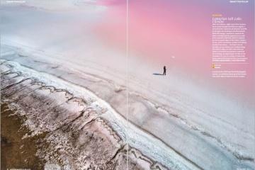 ヘルソン州のピンクの湖が英雑誌に採用