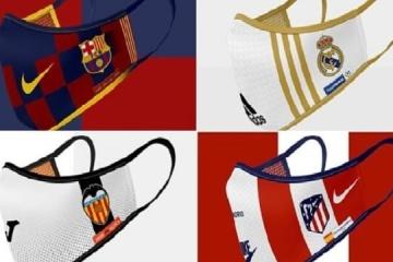 В Іспанії створили антикоронавірусні маски провідних клубів Ла Ліги