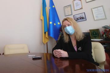 Svitlana Fomenko, ministra en funciones de Cultura y Política de Información