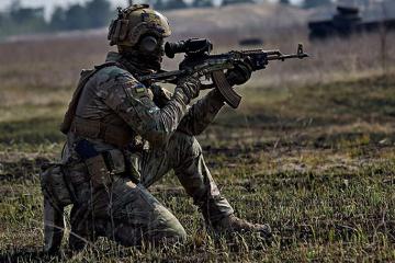 Okupanci pięciokrotnie zrywali rozejm w Donbasie - strzelali z granatników i broni strzeleckiej