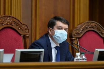 Dmytro Razumkov a signé le projet de budget 2021