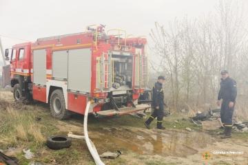 チョルノービリ立入制限区域にて野火の消火継続