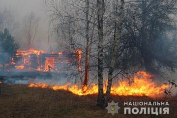 Brände in der Oblast Schytonyr: Polizei verstärkt Präsenz