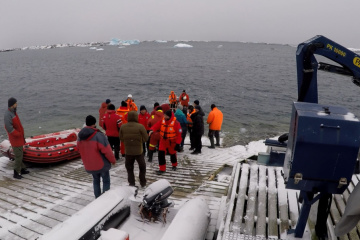 Exploradores polares ucranianos llegan a la Antártida