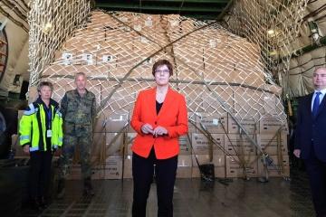 """Ukrainische """"Mrija"""" bringt nach Deutschland mehr als 10 Mio. Schutzmasken"""