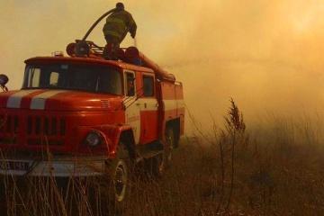 Feuerwehr löscht einzelne Brandherde bei Tschornobyl und in Oblast Schytomyr