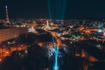 В Івано-Франківську засвітили промінь вдячності лікарям та воїнам