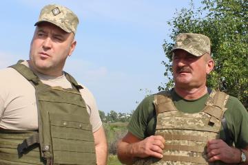 Volodymyr Kravtchenko, commandant en chef des Forces unies, lieutenant-général
