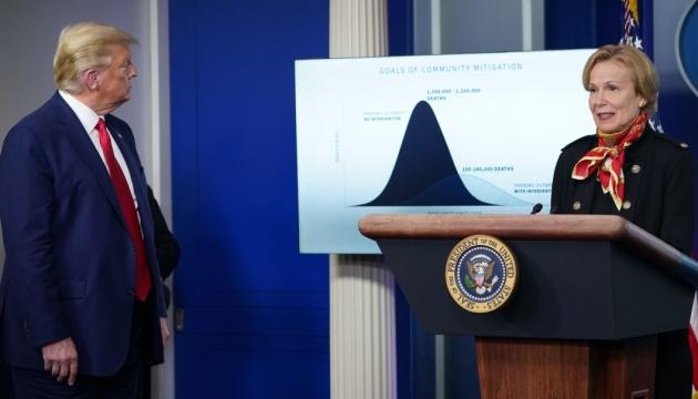 У Білому домі прогнозують, що коронавірус забере понад 100 тисяч життів у США
