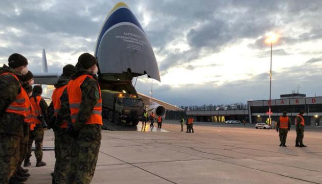 """Ан-124 """"Руслан"""" втретє доправив меддопомогу в Чехію в рамках програми НАТО"""