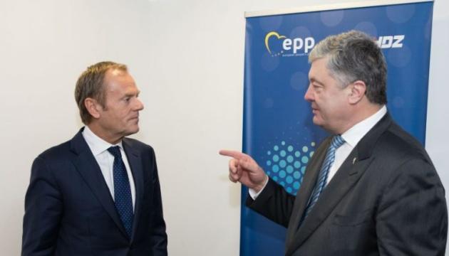 Порошенко закликає ЄС дати відсіч спробам Росії використати пандемію для зняття санкцій